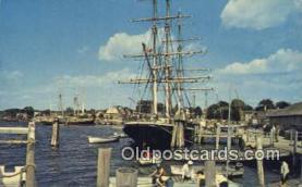 shi020371 - Mystic Seaport, Mystic Connecticut, CT USA Sail Boat Postcard Post Card