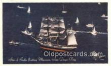 shi020377 - Star Of India Floating Museum, San Diego Bay, California, CA USA Sail Boat Postcard Post Card