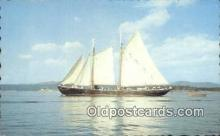 shi020386 - Windjammer Off The Coast Of Maine, ME USA Sail Boat Postcard Post Card