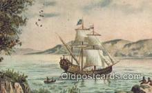 shi020391 - Henry Hudson's Half Moon, Albany, New York, NY USA Sail Boat Postcard Post Card
