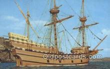 shi020393 - The Mayflower II, Plymouth, Massachusetts, MA USA Sail Boat Postcard Post Card