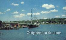 shi020400 - Mystic Seaport, Mystic Connecticut, CT USA Sail Boat Postcard Post Card
