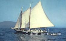 shi020404 - Schooner Mercantile, Camden, Maine, ME USA Sail Boat Postcard Post Card