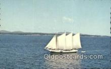 shi020405 - Victory Chime, Schooner, Maine, ME USA Sail Boat Postcard Post Card