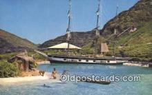 shi020423 - Sea Life Park, Makapuu, Oahu, USA Sail Boat Postcard Post Card