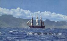 shi020429 - The Bounty Sailing Near, Tahiti Sail Boat Postcard Post Card