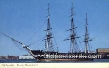 shi020430 - Old Ironsides, Boston, Massachusetts, MA USA Sail Boat Postcard Post Card