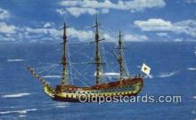 shi020434 - Vaisseau Historique, Breze, Canada Sail Boat Postcard Post Card