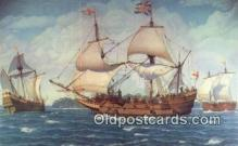 shi020440 - The First Three Ships, Jamestown, Virginia, VA USA Sail Boat Postcard Post Card