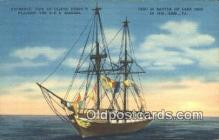 shi020449 - Oliver Perrys Flagship The USS Niagara, Erie, Pennsylvania, PA USA Sail Boat Postcard Post Card