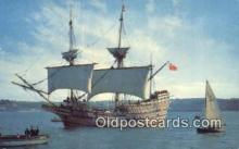 shi020465 - The Mayflower II, Plymouth, Massachusetts, MA USA Sail Boat Postcard Post Card