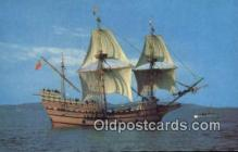 shi020466 - The Mayflower II, Plymouth, Massachusetts, MA USA Sail Boat Postcard Post Card