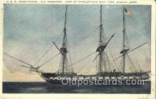 shi020467 - USS Constitution, Old Ironsides, Boston, Massachusetts, MA USA Sail Boat Postcard Post Card