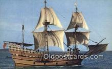 shi020475 - The Mayflower II, Plymouth, Massachusetts, MA USA Sail Boat Postcard Post Card