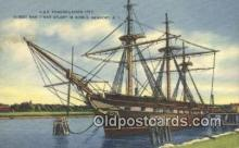 shi020477 - USS Constellation, Newport, Rhode Island, RI USA Sail Boat Postcard Post Card