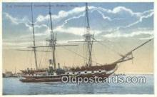 shi020480 - Old Ironsides, Boston, Massachusetts, MA USA Sail Boat Postcard Post Card