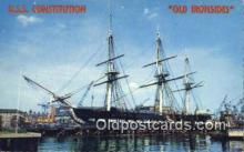 shi020484 - USS Constitution, Old Ironsides, Boston, Massachusetts, MA USA Sail Boat Postcard Post Card