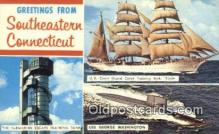 shi020490 - US Coast Guard Training Bark, The Eagle, Connecticut, CT USA Sail Boat Postcard Post Card