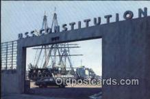 shi020493 - USS Constitution, Charlestown, Charlestown, Massachusetts, MA USA Sail Boat Postcard Post Card
