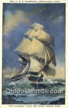 shi020499 - USS Constitution, Old Ironsides, Boston, Massachusetts, MA USA Sail Boat Postcard Post Card