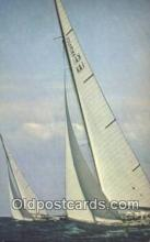 shi020501 - Americas Cup Yachts, Newport, Rhode Island, RI USA Sail Boat Postcard Post Card