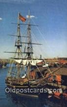 shi020506 - Boston Tea Party Ship, , The Beaver II, Boston, Massachusetts, MA USA Sail Boat Postcard Post Card