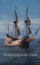 shi020511 - The Mayflower II, Plymouth, Massachusetts, MA USA Sail Boat Postcard Post Card
