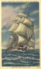 shi020529 - USS Constitution, Boston, Massachusetts, MA USA Sail Boat Postcard Post Card