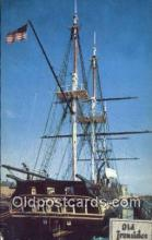 shi020536 - USS Constitution, Old Ironsides, Boston, Massachusetts, MA USA Sail Boat Postcard Post Card