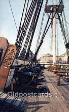 shi020542 - USS Constitution, Charlestown, Massachusetts, MA USA Sail Boat Postcard Post Card