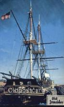 shi020551 - USS Constitution, Old Ironsides, Boston, Massachusetts, MA USA Sail Boat Postcard Post Card