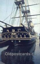 shi020552 - USS Constitution, Charlestown, Massachusetts, MA USA Sail Boat Postcard Post Card