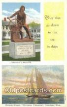shi020554 - Gloucester Fisherman, Gloucester, Massachusetts, MA USA Sail Boat Postcard Post Card