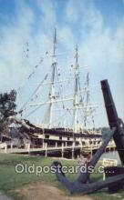 shi020557 - Waleship Charles W Morgan, Mystic Seaport, Mystic, Connecticut, CT USA Sail Boat Postcard Post Card