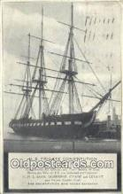 shi020564 - US Frigate, Constitution, Old Ironsides, Boston, Massachusetts, MA USA Sail Boat Postcard Post Card