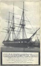 shi020566 - US Frigate Constitution, Old Ironsides, Boston, Massachusetts, MA USA Sail Boat Postcard Post Card