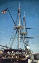 shi020569 - USS Constitution, Old Ironsides, Boston, Massachusetts, MA USA Sail Boat Postcard Post Card