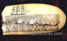shi020575 - Whaling Museum, New Bedford, Massachusetts, MA USA Sail Boat Postcard Post Card