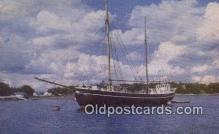 shi020576 - The Gundel, Boothbay Harbor, Maine, ME USA Sail Boat Postcard Post Card