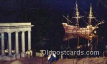 shi020587 - The Mayflower II, Plymouth, Massachusetts, MA USA Sail Boat Postcard Post Card