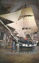 shi020603 - The Whaling Museum, New Bedford, Massachusetts, MA USA Sail Boat Postcard Post Card