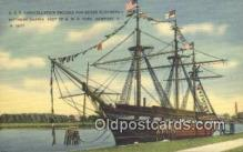 shi020611 - USS Constellation, Newport, Rhode Island, RI USA Sail Boat Postcard Post Card