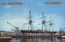 shi020613 - USS Constitution, Old Ironsides, Boston, Massachusetts, MA USA Sail Boat Postcard Post Card