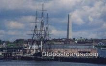 shi020616 - USS Constitution, Old Ironsides, Boston, Massachusetts, MA USA Sail Boat Postcard Post Card