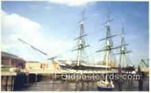 shi020620 - USS Constitution, Old Ironsides, Boston, Massachusetts, MA USA Sail Boat Postcard Post Card