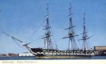 shi020623 - Old Ironsides, Boston, Massachusetts, MA USA Sail Boat Postcard Post Card