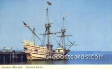 shi020641 - The Mayflower II, Plymouth, Massachusetts, MA USA Sail Boat Postcard Post Card