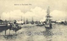 shi020653 - Harbor, Portland, Oregon, OR USA Sail Boat Postcard Post Card