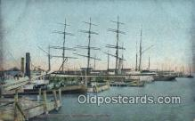shi020655 - Charleston Harbor Sail Boat Postcard Post Card