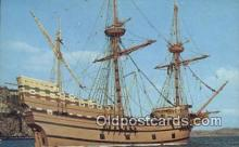 shi020667 - The Mayflower II, Plymouth, Massachusetts, MA USA Sail Boat Postcard Post Card